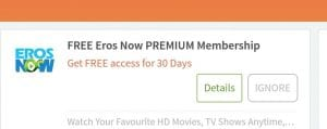 Eros Now Premium Trick- Trick to Get Eros Now Premium Subscription Free 3