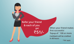(Live) Viola Wallet - Signup & Get Rs.51 Cashback on Topup of Rs.100 & Rs.51 Per Referral 1