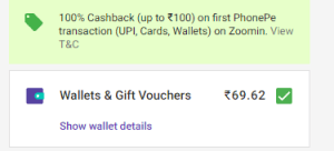 [Live]Zoomin Phonepe - Get 100% Cashback upto Rs.100 With Phonepe 4