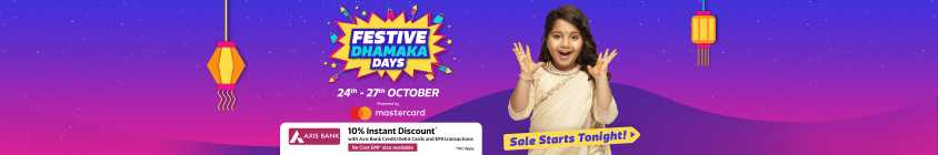 Flipkart Festival Dhamaka Days: 10% Discount with Axis cards & more offers 1