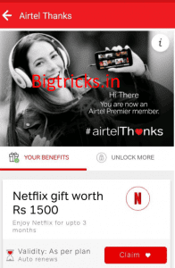 Netflix Premium Account Free For 3 Month With Airtel Postpaid Plans 1