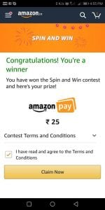 (Proof) Amazon Spin & Win - Get Amazon Cash & More Prizes Free Instantly 3