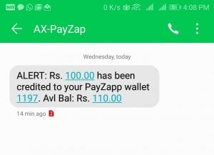 (New Code+Trick Added)Payzapp App Loot - Get Rs.100 Cashback on Spent of Rs.250 2