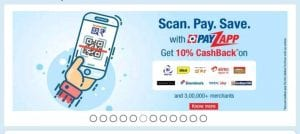 Payzapp - Get 10% Cashback in Payzapp Wallet For Bharat QR Scan & Pay Transactions 1