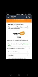 (Proof) Amazon Spin & Win - Get Amazon Cash & More Prizes Free Instantly 4