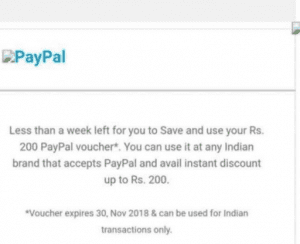 PayPal Credited Rs.200 To Some User's Paypal Account 5