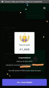 [WORKING]Groww App :- Refer Your Friends and Get Upto Rs. 1000 Per Refer 3