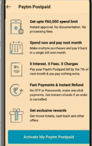 PayTM Postpaid -What is PayTM Postpaid & How to Activate? Instant Credit upto Rs.25000 2