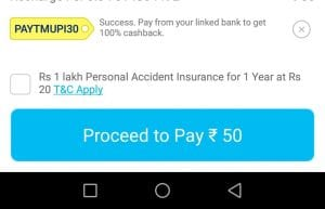 Paytm UPI Loot : Get Rs.50 Recharge Free on Payment using PayTM UPI 2
