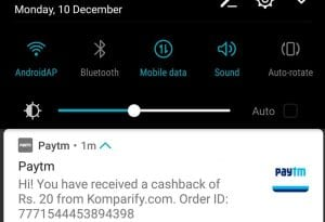 Get Rs. 10 Free Paytm Cashby just a missed call 1