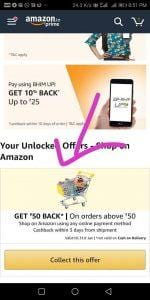 Amazon Offer  - Get Free Shopping Worth Rs.50 (100% Cashback) 1