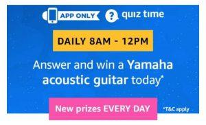 Amazon 12th Jan Quiz Answers - Win Free Yamaha Acoustic Guitar 1