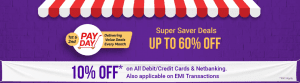 Flipkart Cashless Day - Get 10% Discount on all Credit Card & Netbanking Payments 1