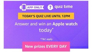 Amazon Quiz 22nd February 2019 Answers - Answer & Win Rs.1000 1