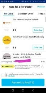 PayTM Bug - Get Rs.20 Free Recharge in Every Account 3