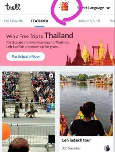 Trell App - Refer Friends & Win a Thailand Trip or Refer 5 Friends & Win Rs.5-3000 2