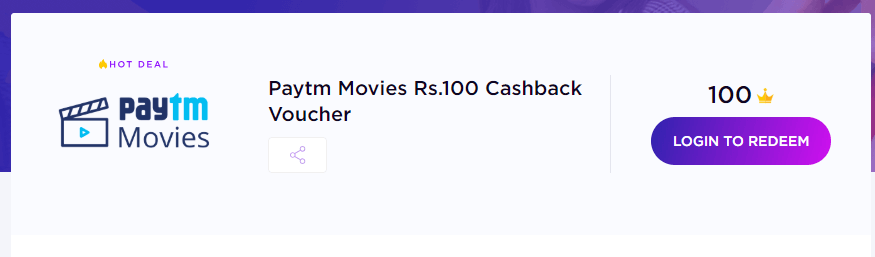 (मूवी ऑफर ) Timespoint PayTM Movie Offer - Signup & Get Rs.100 PayTM Movie Voucher Instantly 2