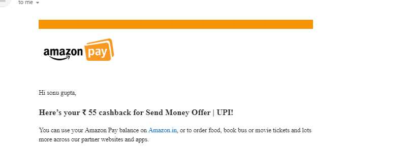 Amazon UPI Offers - Get Upto Rs.1000 Amazon Pay Cash For Send Money of Rs.250 + Shopping Coupon 2