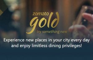 Zomato Gold membership - Get Zomato Gold Membership for 1 Year at Just Rs.20 (70% off) 1