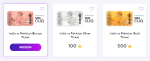 [Answers]GameOfPoints - 16th June Answers for India Vs Pakistan Match - Win Tata CLiQ vouchers worth Rs.40,000 everyday! 3