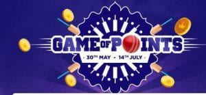 [Answers]GameOfPoints -  9thJuly Answers for India Vs Newzeland Match - Win Tata CLiQ vouchers worth Rs.40,000 everyday! 1