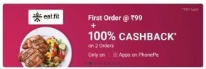 Eat.fit Loot - Get Food worth Rs.100  for Free | Only Today 1