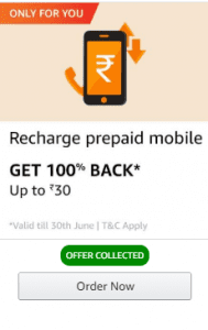 Cashkaro Offer - Get Free Recharge Upto Rs. 105 From Amazon 2