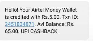 Airtel UPI Offer - Get Rs.250 Cashback on UPI Money Transfer 4