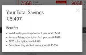 Vodafone Red - Order Vodafone Sim Online & Get Benefits worth Rs.5497 with Rs.399 Plan 2