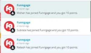 Funngage - Signup & Get Rs.10 + Refer Friends & Get Rs.10 Per Referral 5
