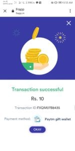 [Instant] Frapp App - Get Rs.10 PayTM Cash On signup & Rs.5 Per Referral 5