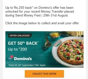Dominos Loot - Get Pizza worth Rs.300 at Just Rs.100 2