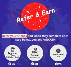 [Low Competition] Fantain App - Get Rs.100 Bonus on Signup + Redeem Your Winnings in PayTM 5