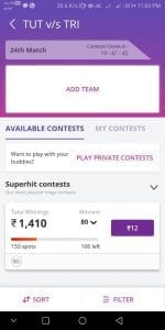 [Low Competition] Fantain App - Get Rs.100 Bonus on Signup + Redeem Your Winnings in PayTM 4