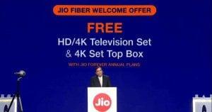 Jio GigaFiber - How to Order Jio Giga Fiber Online & Get Free 4K TV and 4K TV Set Top Box 1