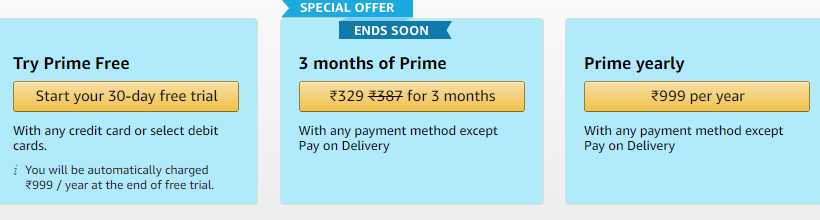 Amazon Prime Trick Amazon Prime Free For 30 Days All Users Bigtricks In