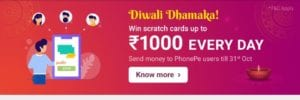 Phonepe Send Money Offer - Get Upto Rs.3000 on money Transfer daily 1
