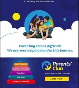 Flipkart Parents Club - Get Rs.100 Shopping for Free | User Specific 1