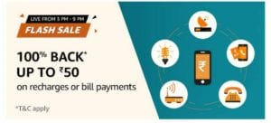 Amazon Pay Recharge Sale - 100% Cashback on Recharge | Free Rs.50 Recharge 1