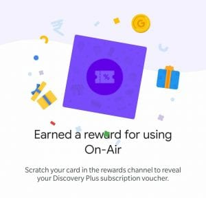 [All States] Google Pay On Air Offer - Just Watch & Listen Google Pay Ads & Get Scratch Card & Discover Plus Coupons 1