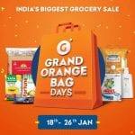 Grofers Grand orange bag days