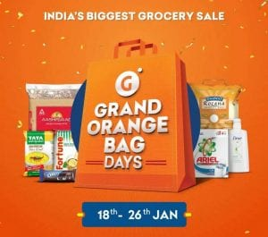 Grofers Grand orange bag days