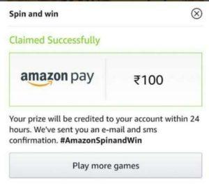 amazon spin & win
