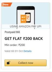 Postpaid Bill Payment cashback Offers