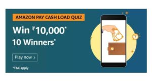 Amazon Pay Cashload Quiz