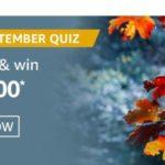 Amazon The September Quiz