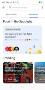 Google Pay Food Offer