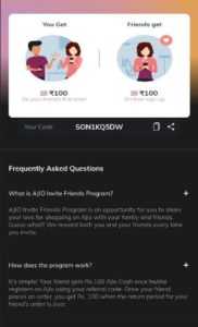 Ajio Referral Code