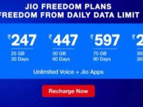 Jio Freedom Plans